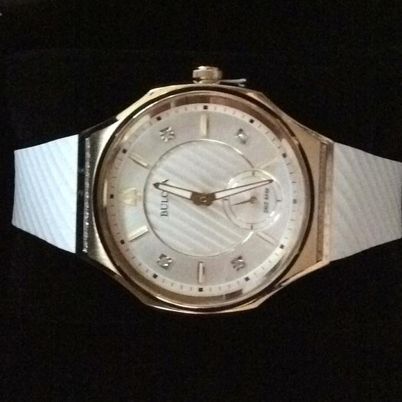 cd517e692 Bulova Accessories   Womens Curv Diamond Accent Watch   Poshmark